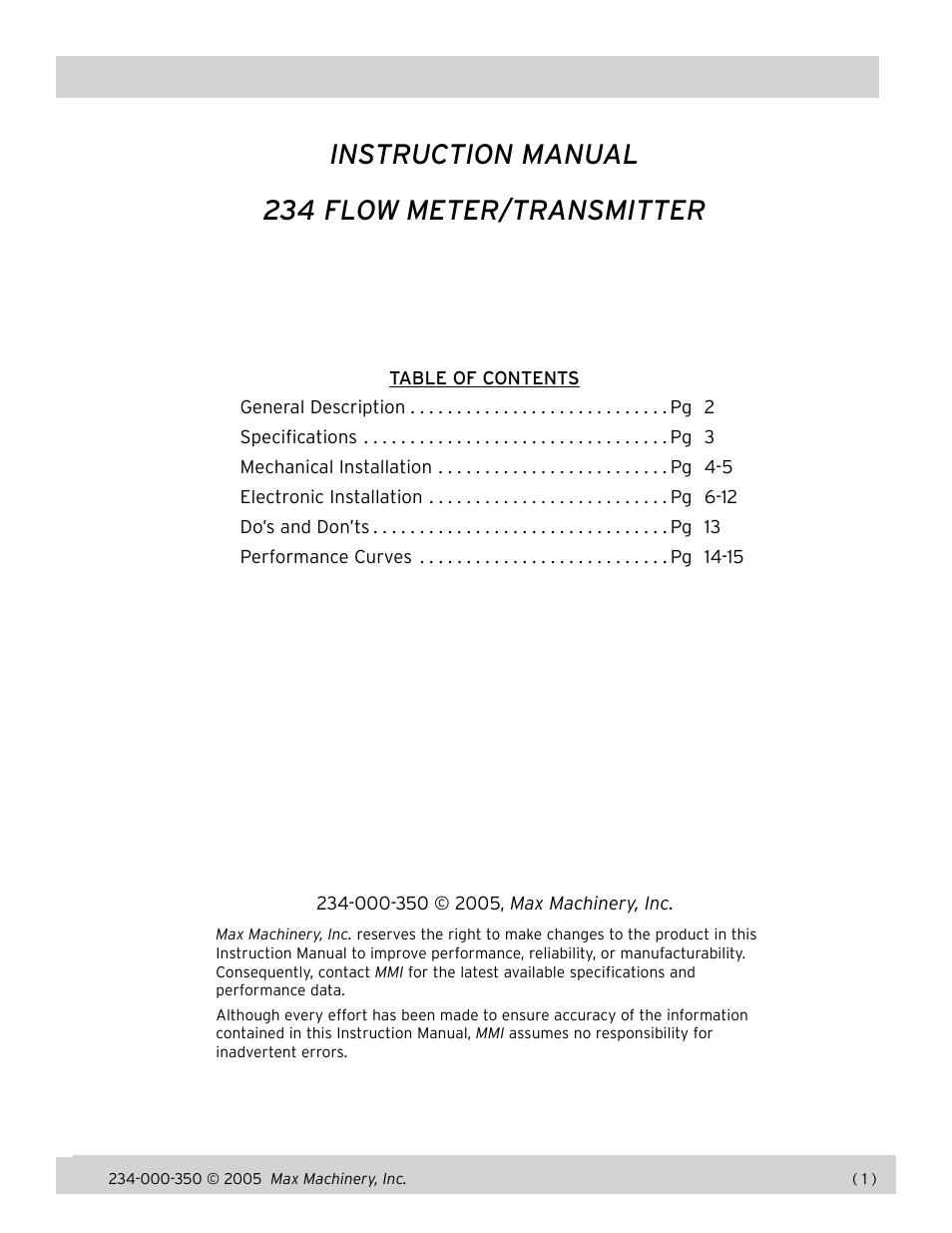 max machinery 234 flow meter user manual 15 pages rh manualsdir com  mmis manual arkansas