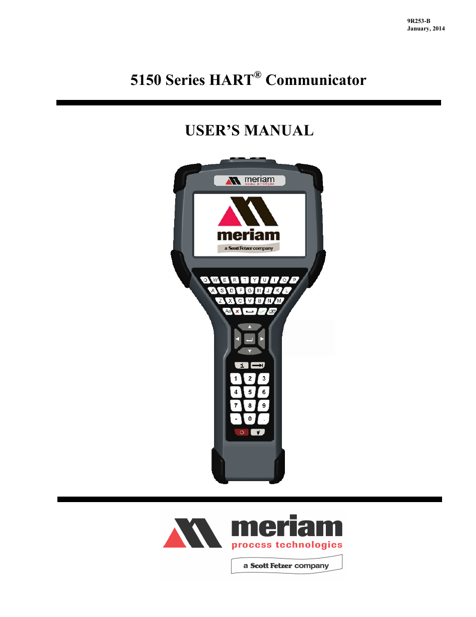 Meriam MFC5150 HART Communicator Manual User Manual | 45 pages