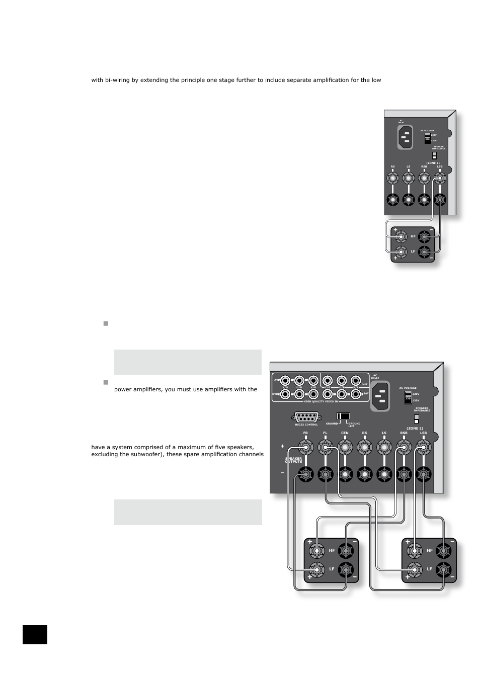 Bi Wiring And Amping Loudspeakers Before You Start Important Speakers Diagram Information