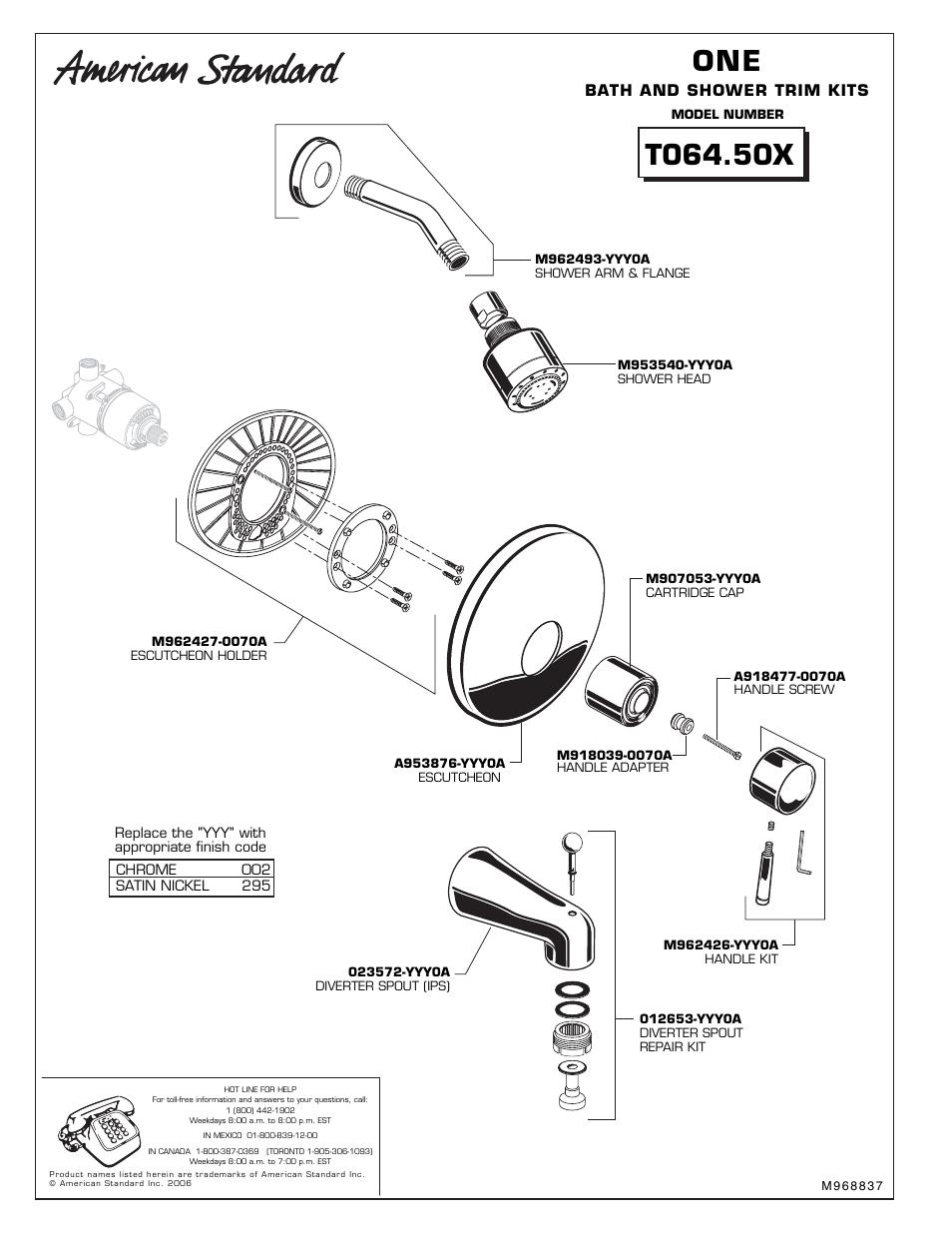 American Standard M962427-0070A Escutcheon Holder