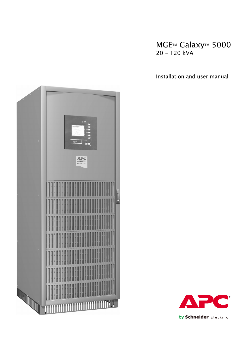 APC GALAXY 5000 User Manual | 68 pages