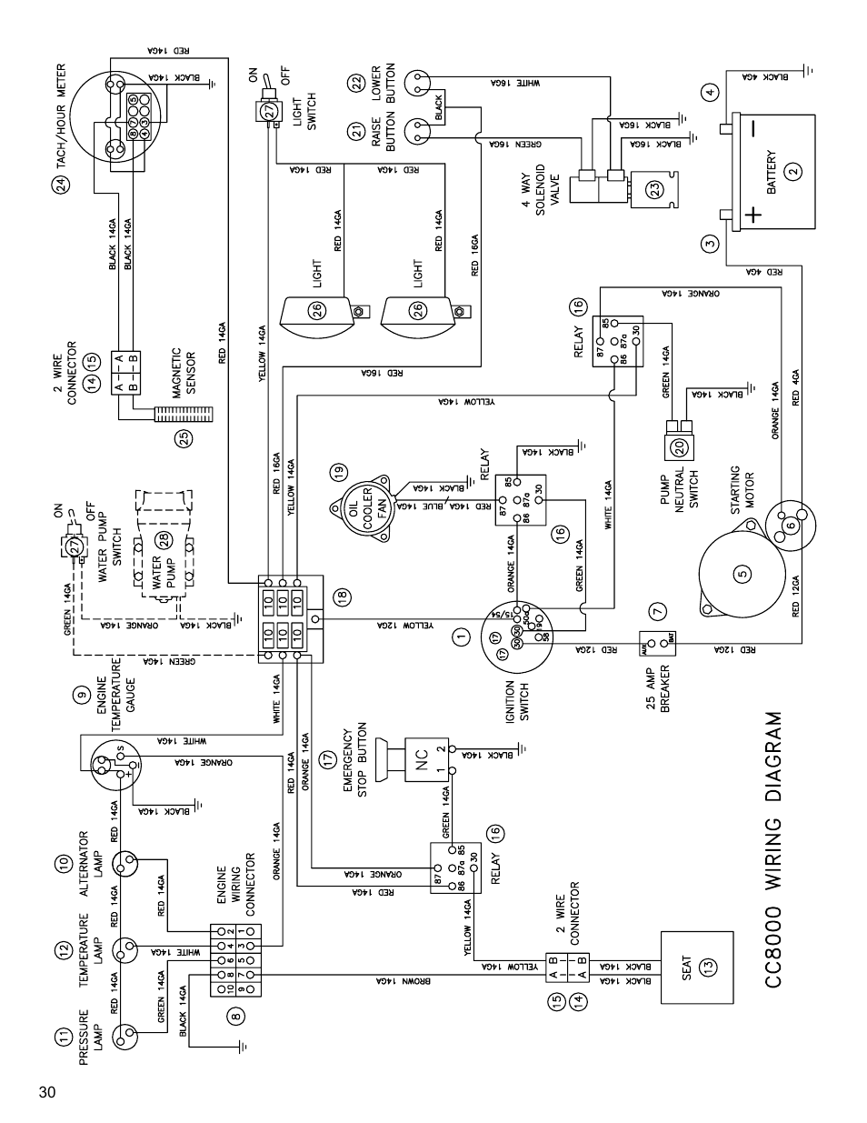 electrical schematic  drawing 13  wiring diagram