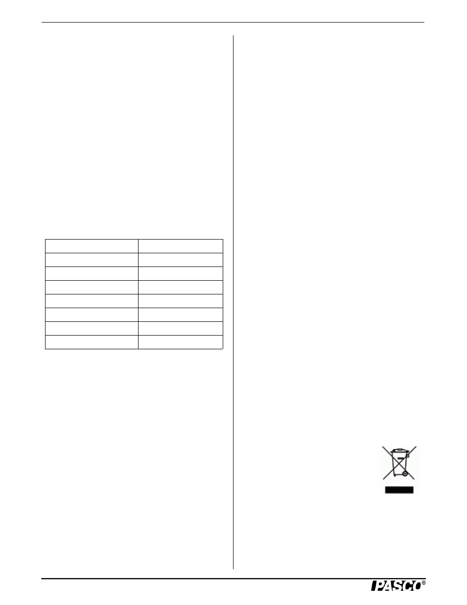 Specifications (ps-2114), Suggested activities, Technical