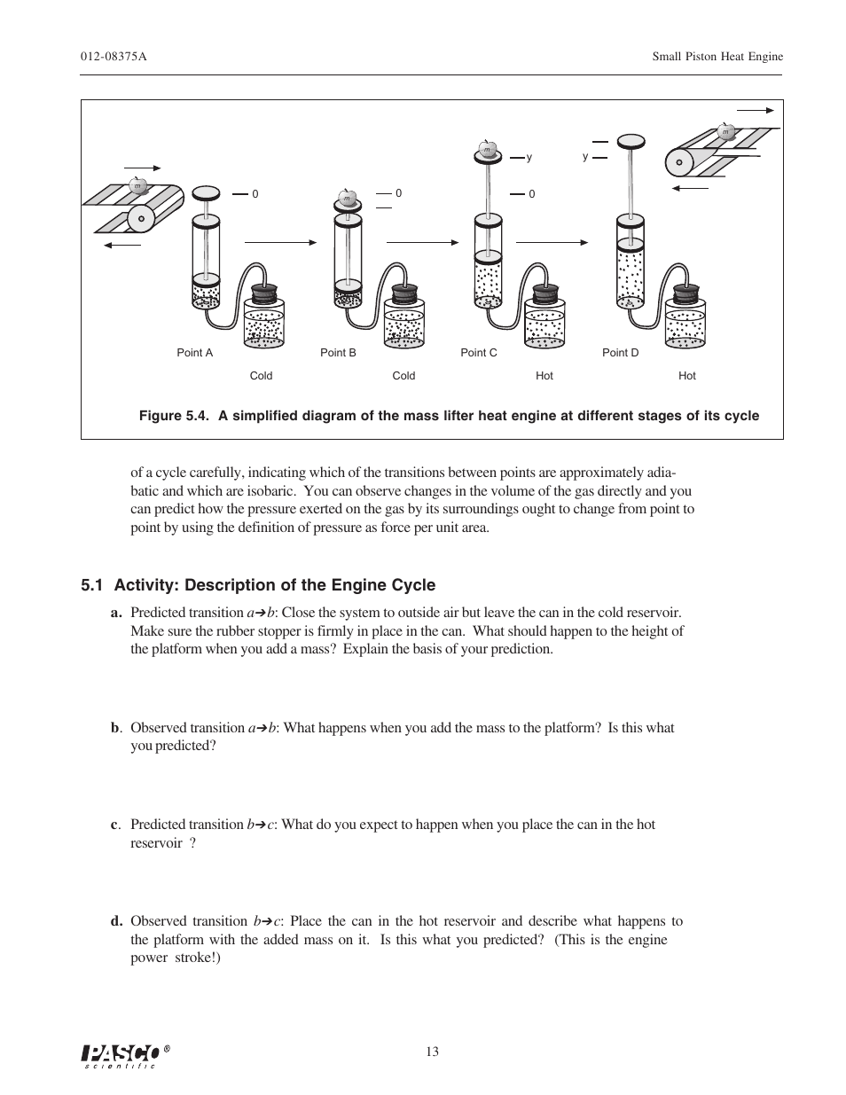 Pasco Force Engine Diagram Heat Wiring Third Level Rocket Data Schema 1 Activity Description Of The Cycle