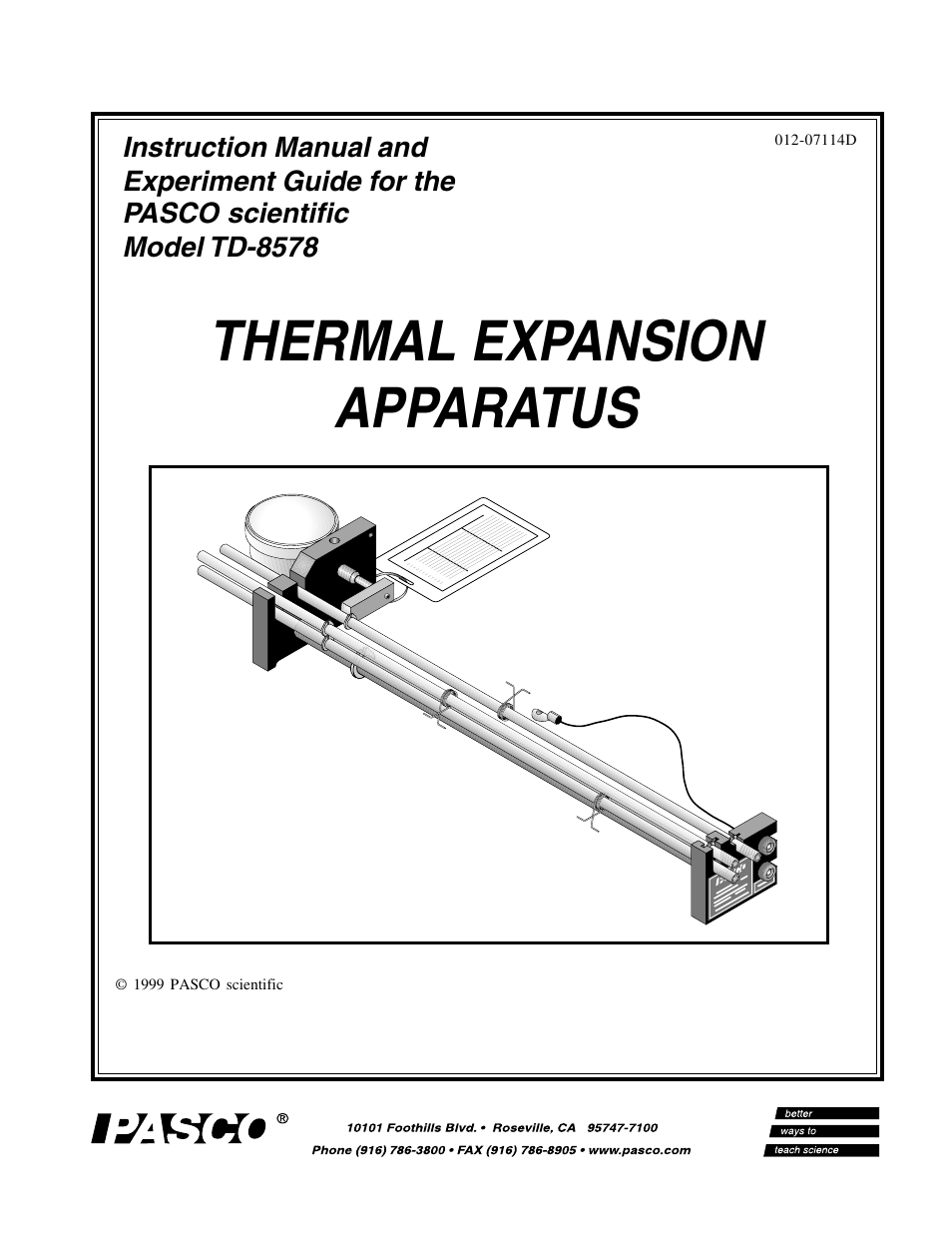 pasco td 8578 thermal expansion apparatus user manual 10 pages honeywell 1202g user guide honeywell user guide cm921