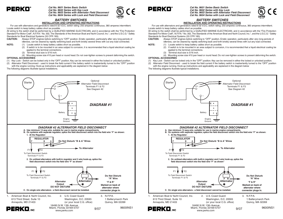 perko 9602 user manual 1 page also for 9604  9603  9601