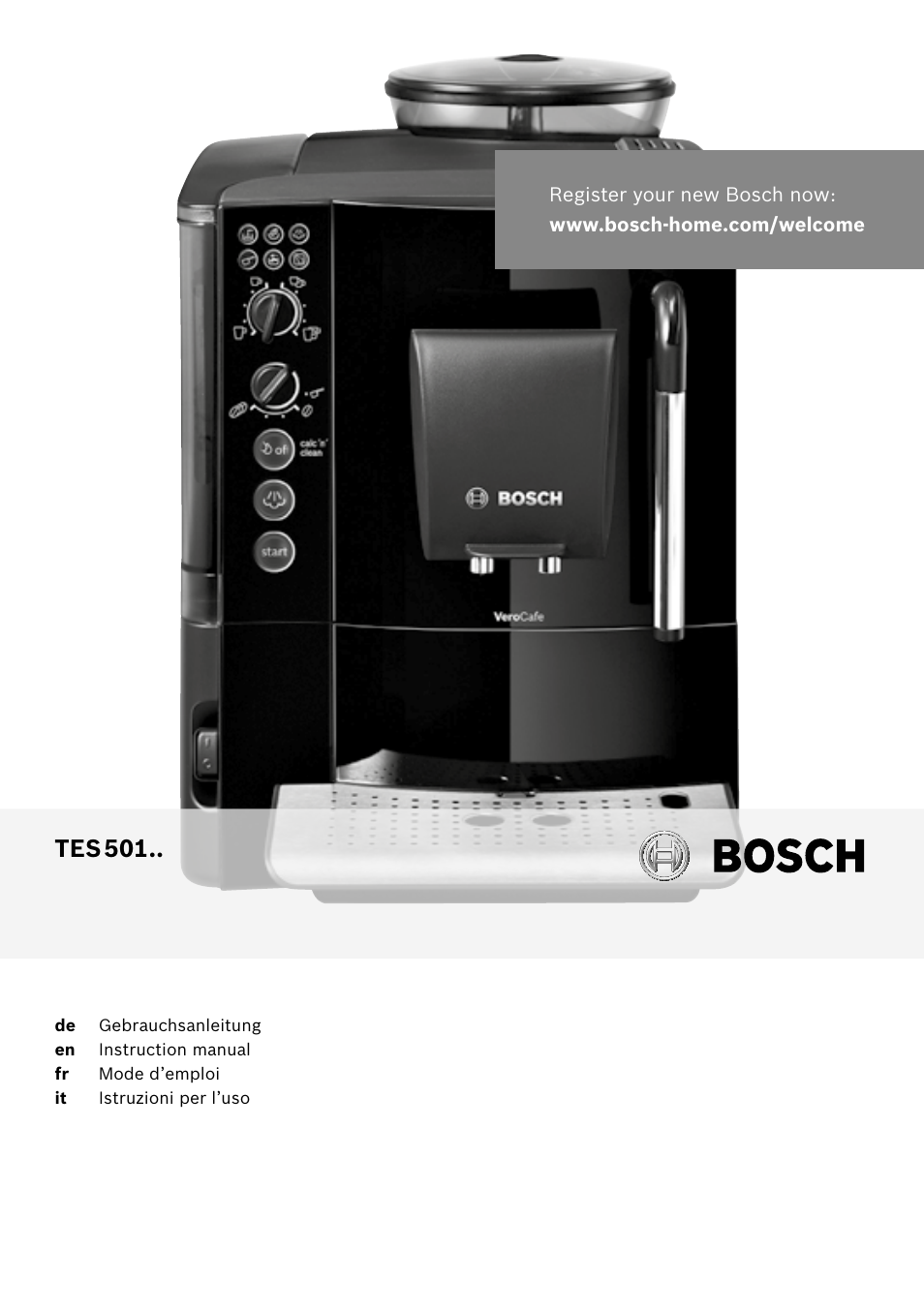 bosch tes50159de verocafe kaffeevollautomat schwarz user. Black Bedroom Furniture Sets. Home Design Ideas