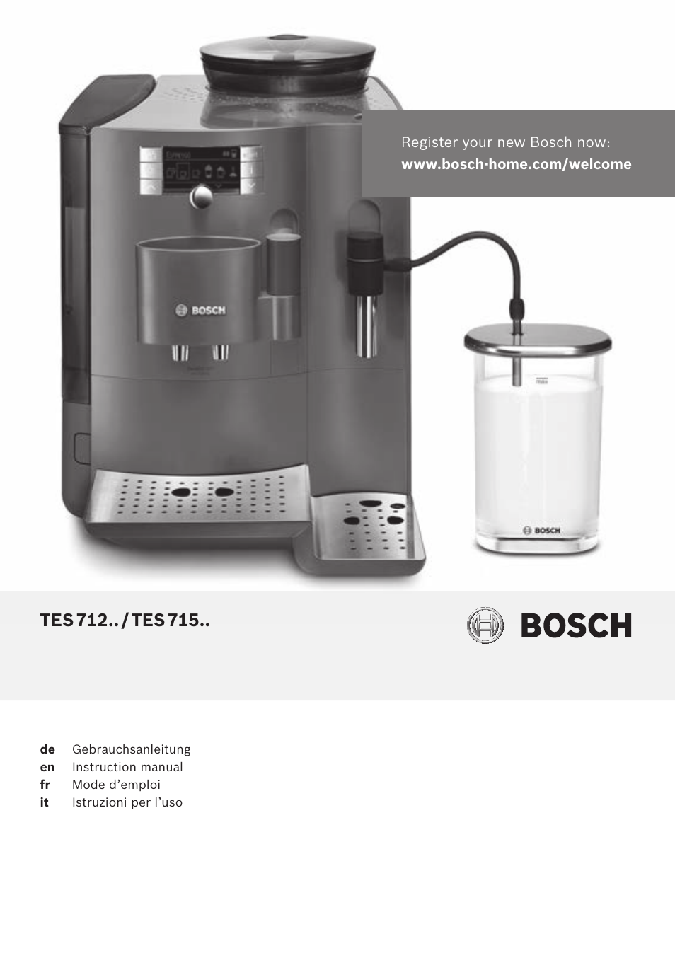 bosch tes71251de verobar aromapro 100 kaffeevollautomat silber user manual 116 pages. Black Bedroom Furniture Sets. Home Design Ideas