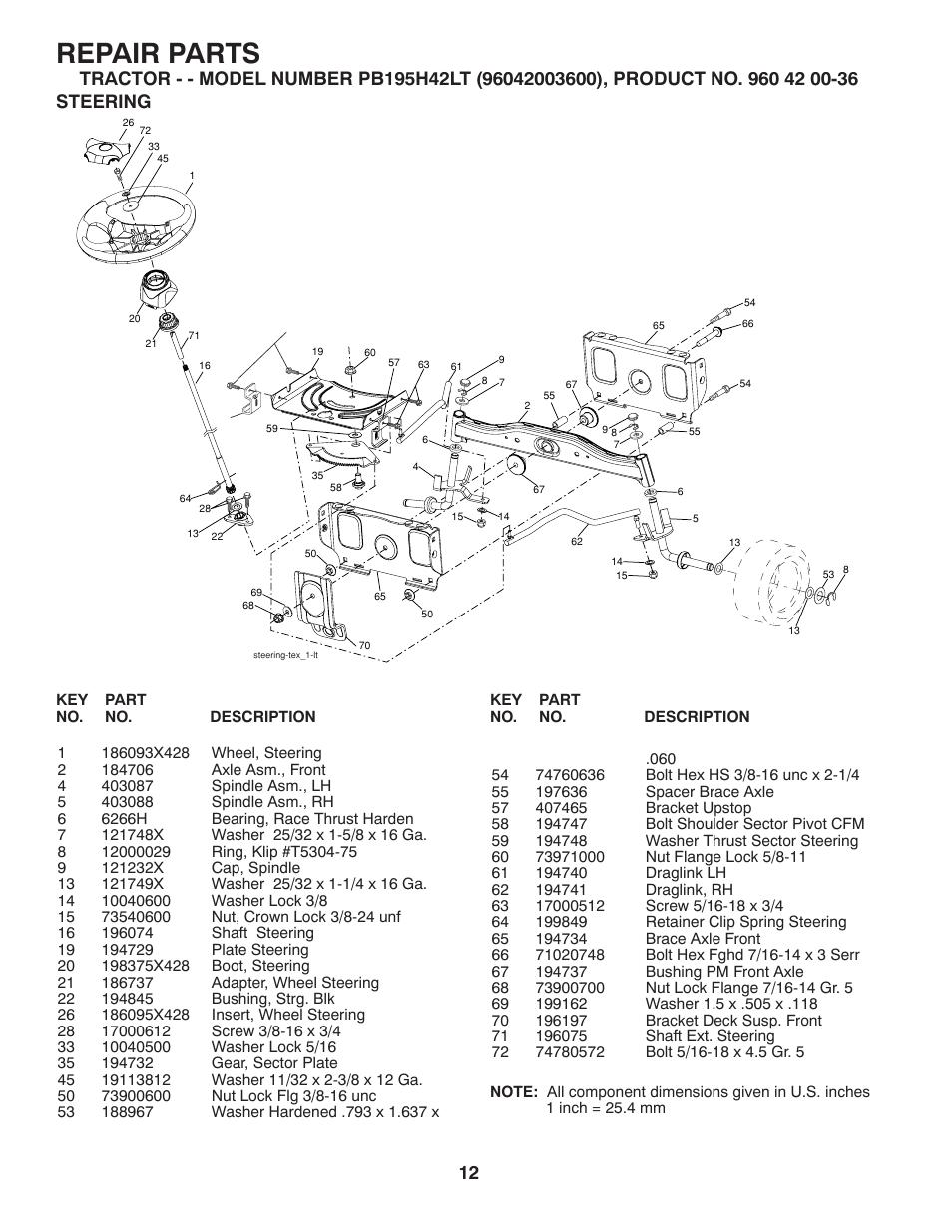 Poulan Repair Manual Pb195h42lt 1994 Oldsmobile Achieva 2400 Battery Fuse Box Diagram Array Steering Parts Pro Lawn Tractor User Rh Manualsdir Com