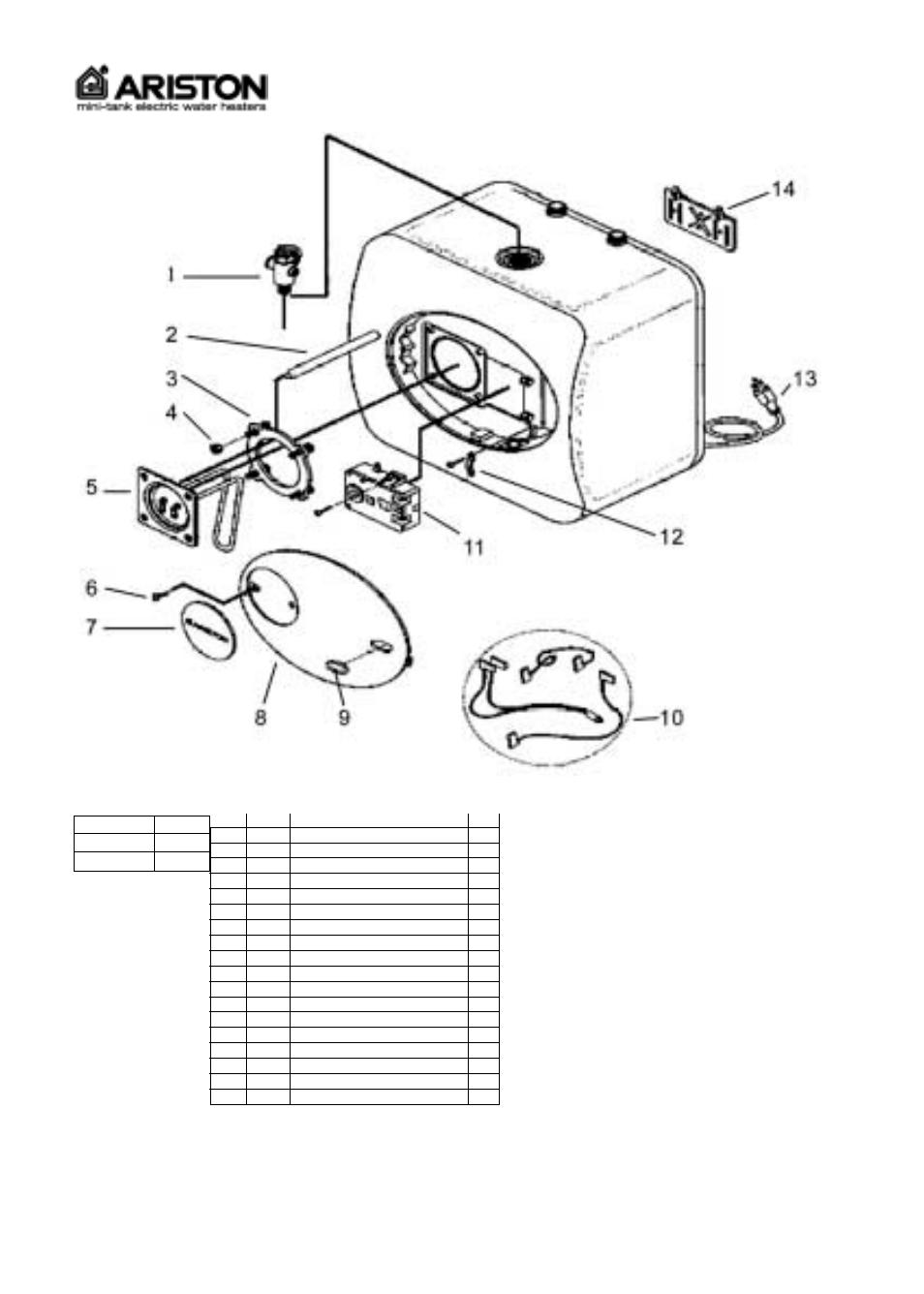 ariston water heater wiring diagram wiring schematic diagram