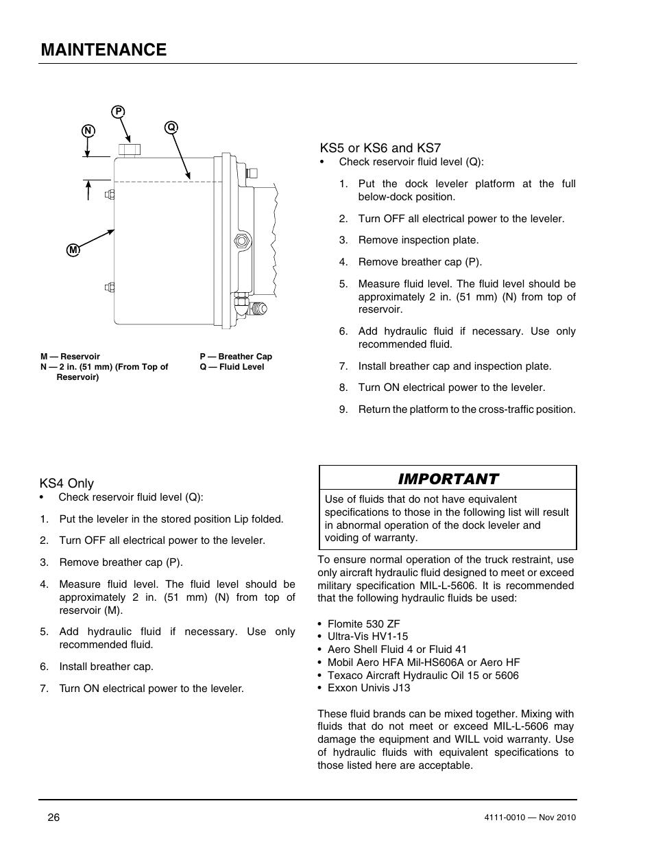 Maintenance, Important | Poweramp POWERHOOK SERIES User