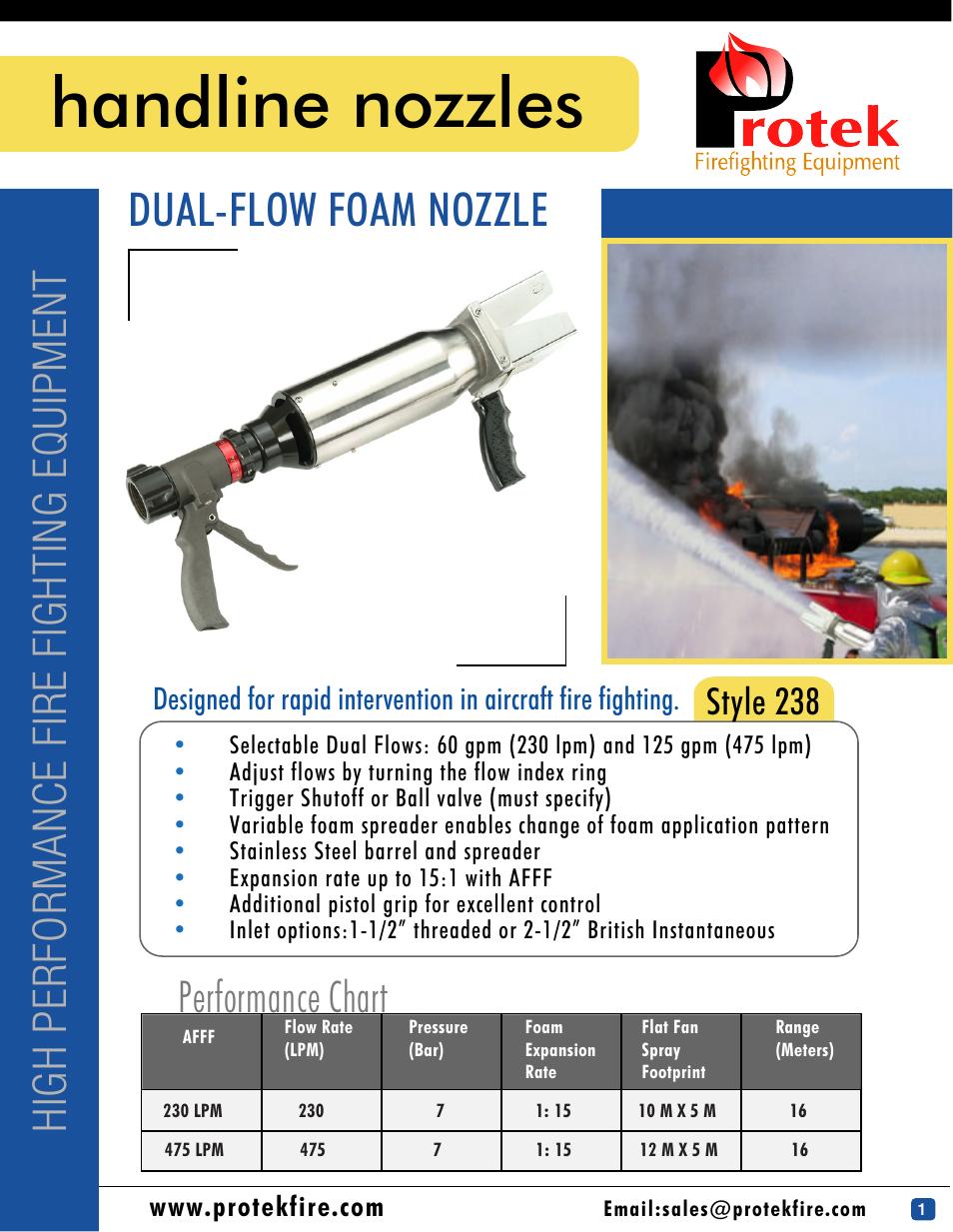 Protek dual flow foam nozzle user manual page