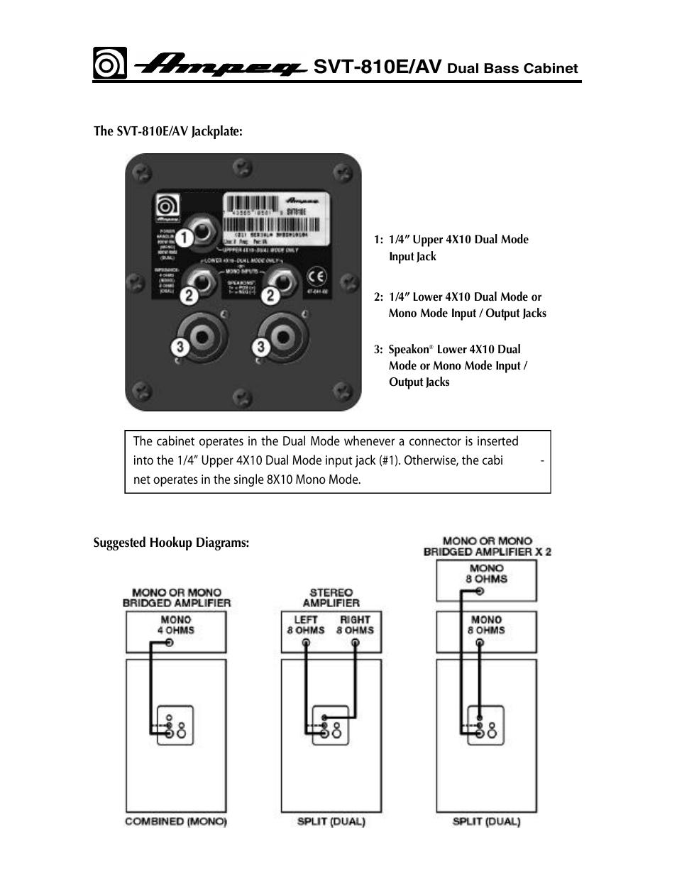 Ampeg svt-810e – thomann uk.