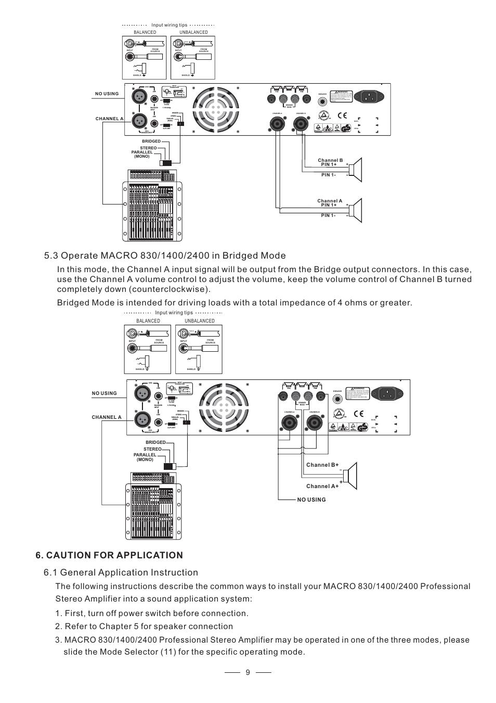 12 3 Gnd Nilfisk Alto Macro 2400 User Manual Page 10 13 2 Bridged Speaker Wiring Diagram
