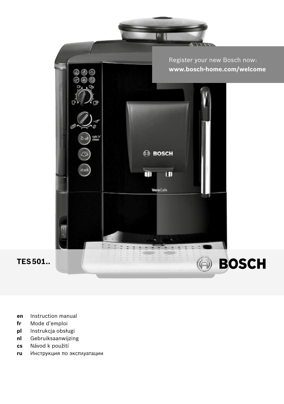 bosch tes50129rw verocafe machine caf expresso automatique noir user manual 122 pages. Black Bedroom Furniture Sets. Home Design Ideas