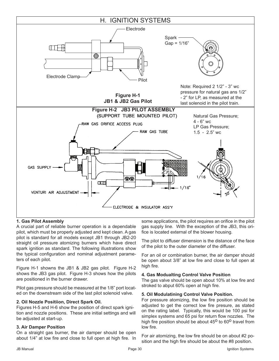 H. ignition systems | Fulton VMP Webster Oil_Combo Burner User Manual |  Page 30 / 52
