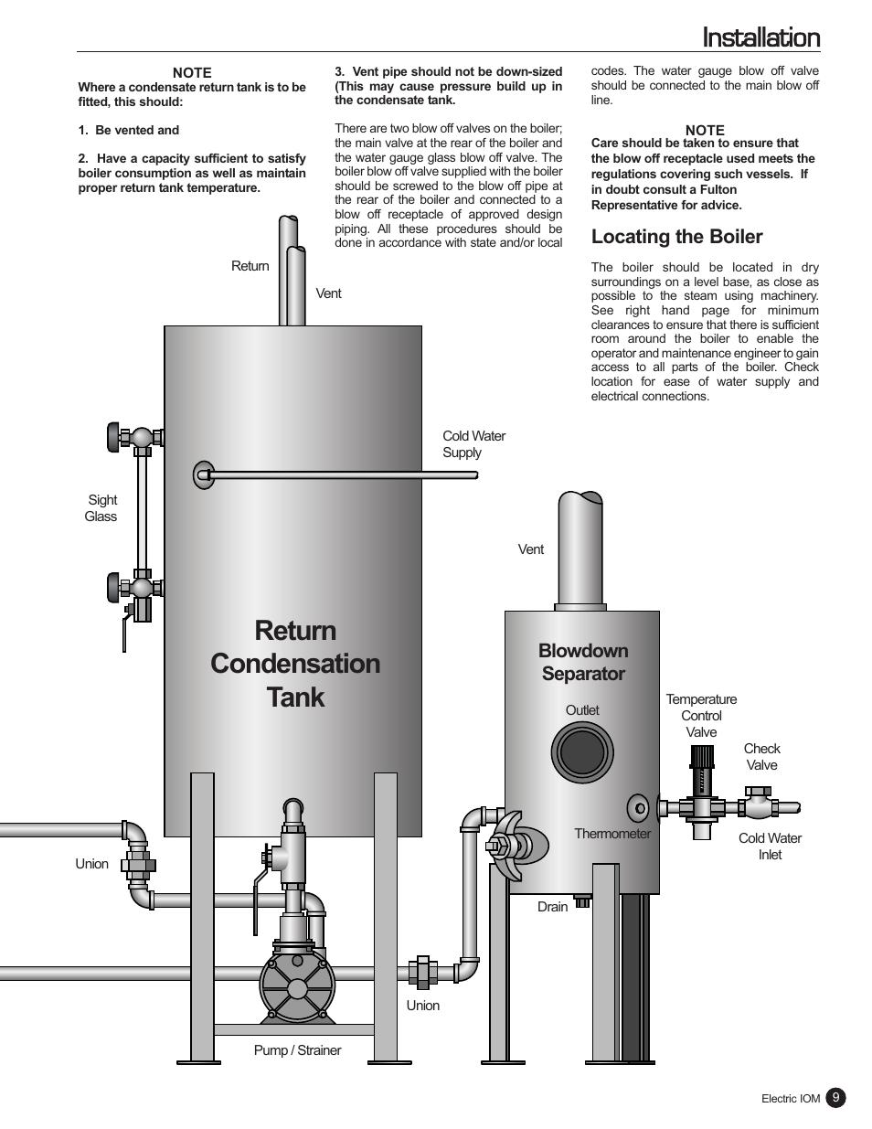 return condensation tank installation locating the boiler fulton rh manualsdir com  fulton electric steam boiler manual