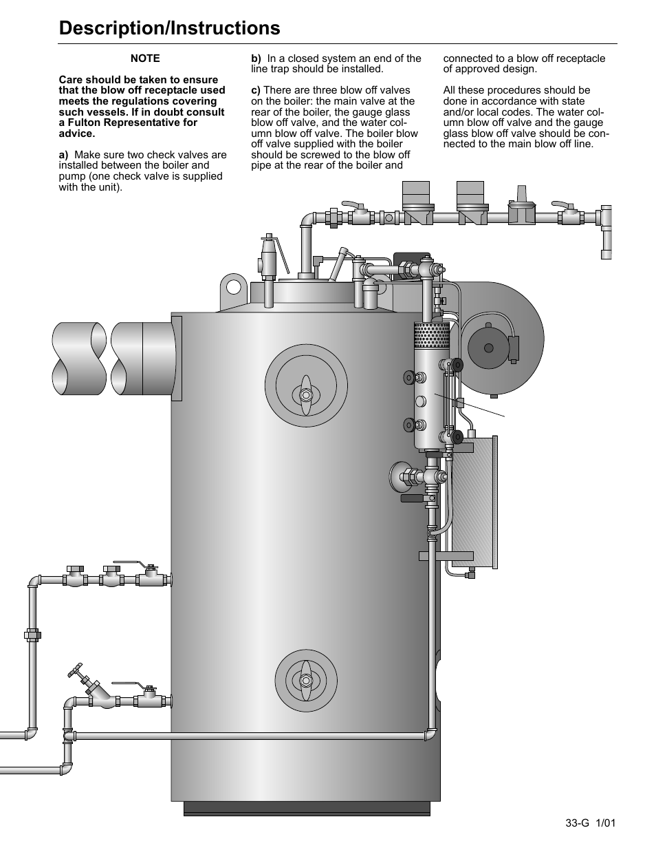Gas fired steam boiler, Description/instructions | Fulton Edge ICX ...