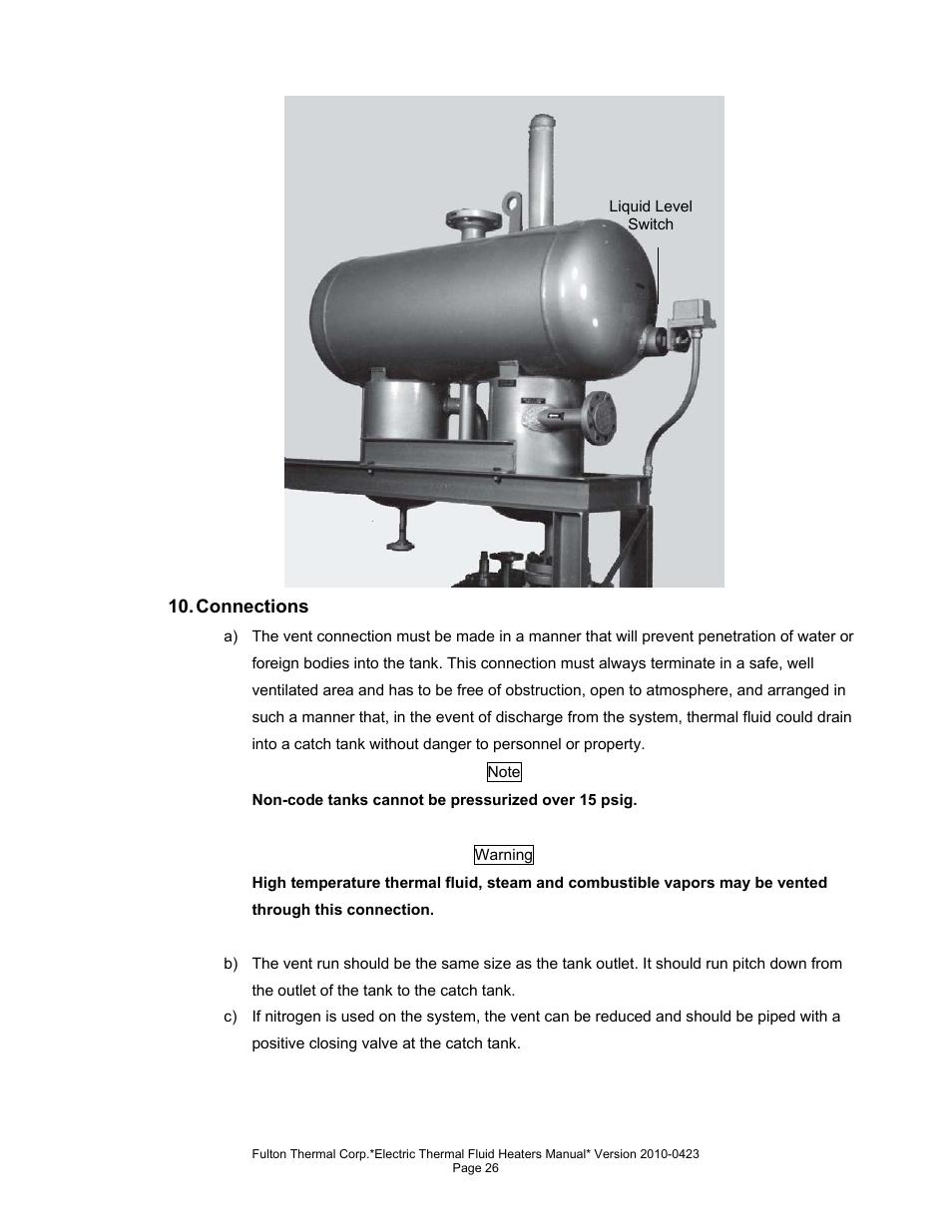 fulton vertical electric ft n thermal fluid hot oil heater user rh manualsdir com