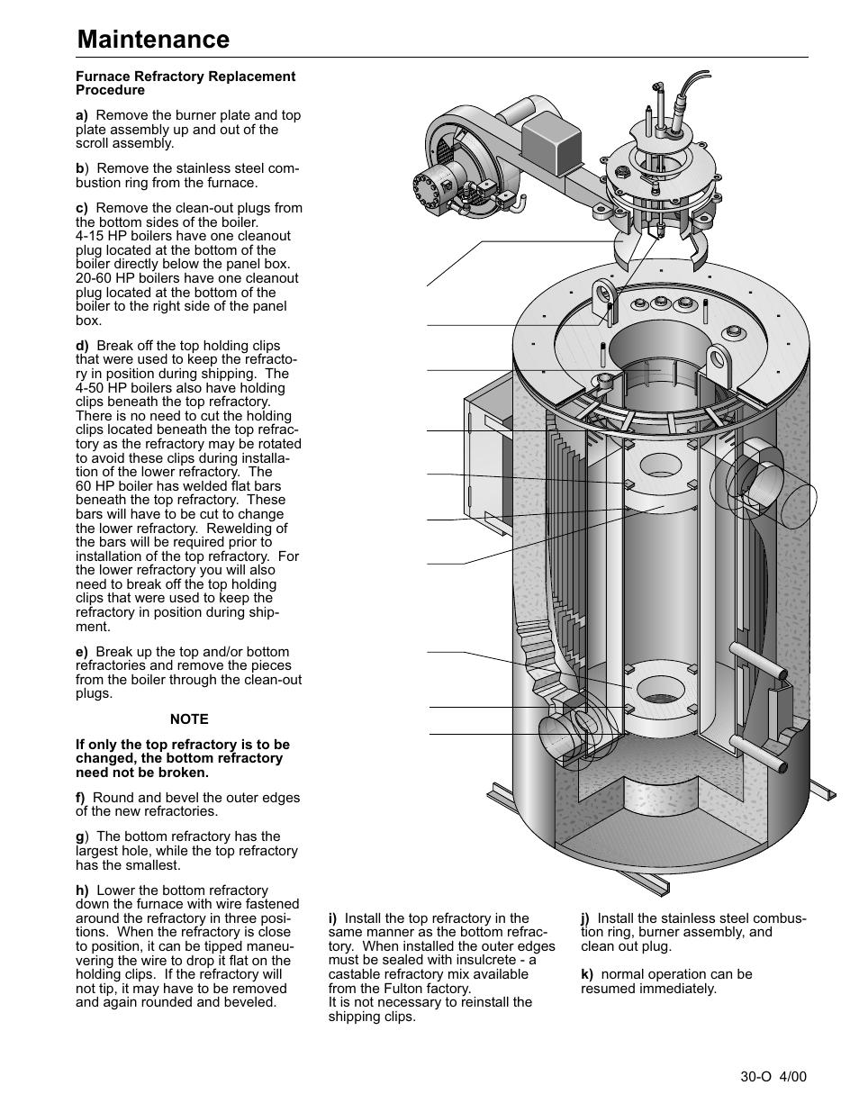 Maintenance Fulton Classic Icx Or Fb F Vertical Tubeless