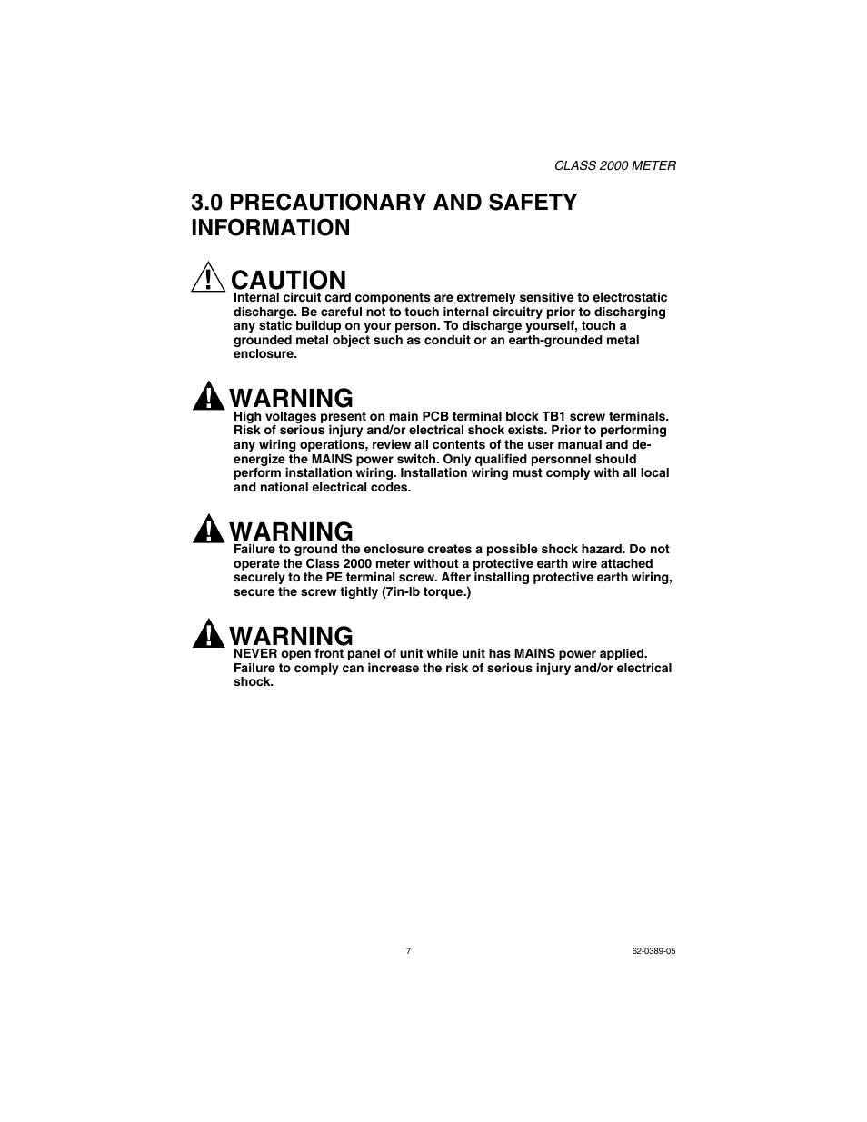 0 precautionary and safety information, caution, warning | e-mon e20-6003200j-d-kit  user manual | page 7 / 52