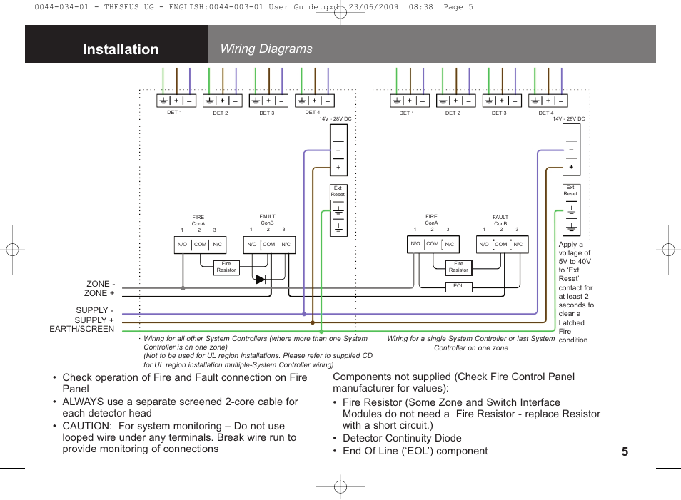 Installation  Wiring Diagrams