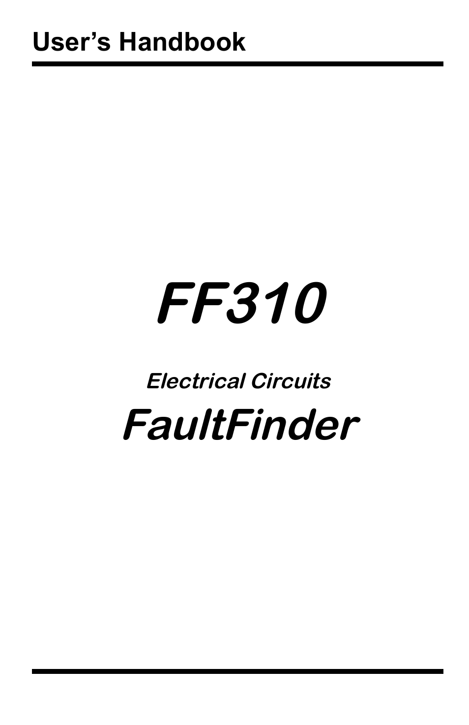 general technologies ff310 fault finder for electrical wiring open    short circuit user manual