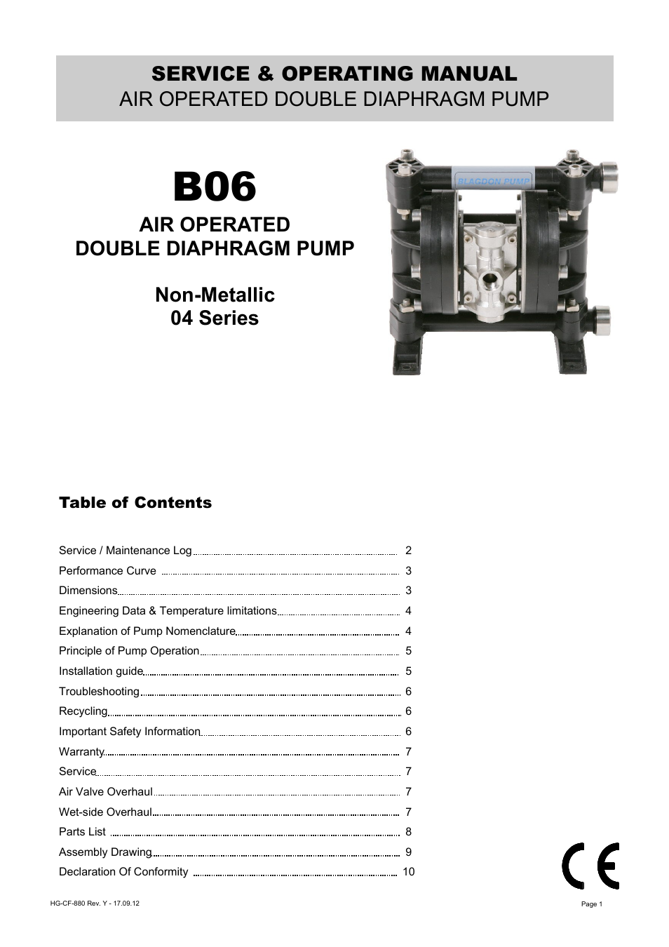Blagdon pump b06 non metallic user manual 10 pages ccuart Images