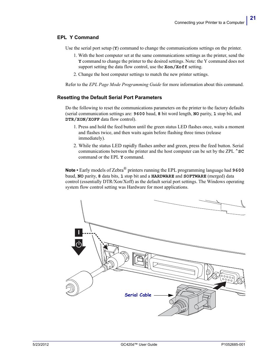 Fairbanks Zebra GC420d User Manual | Page 33 / 100