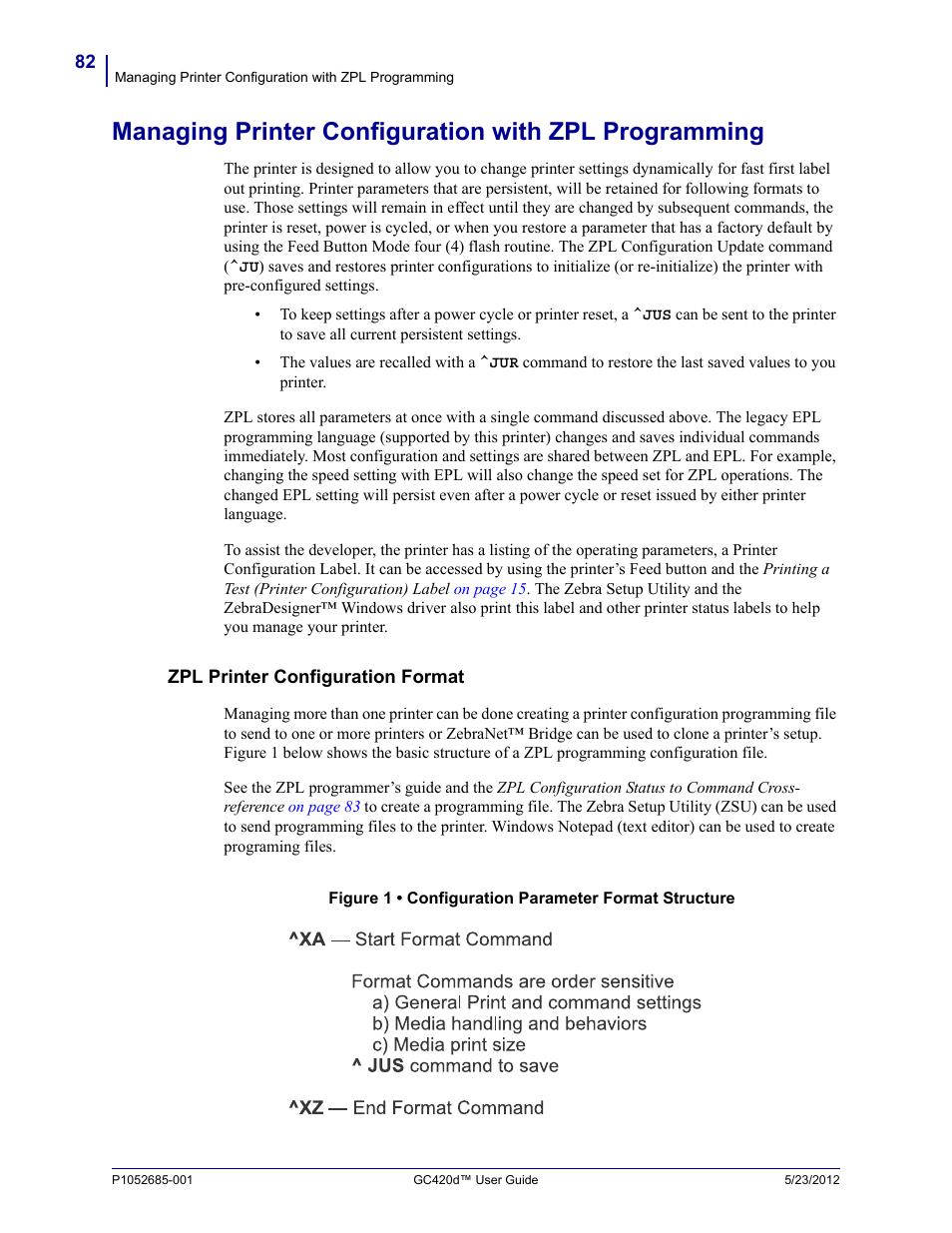 Zpl printer configuration format | Fairbanks Zebra GC420d User