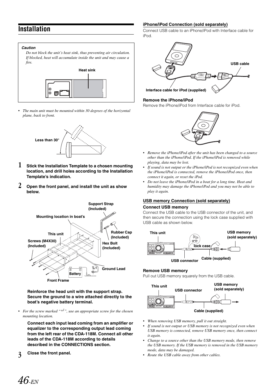 Installation Alpine Cda 118m User Manual Page 48 51 Equalizer Wiring Diagram