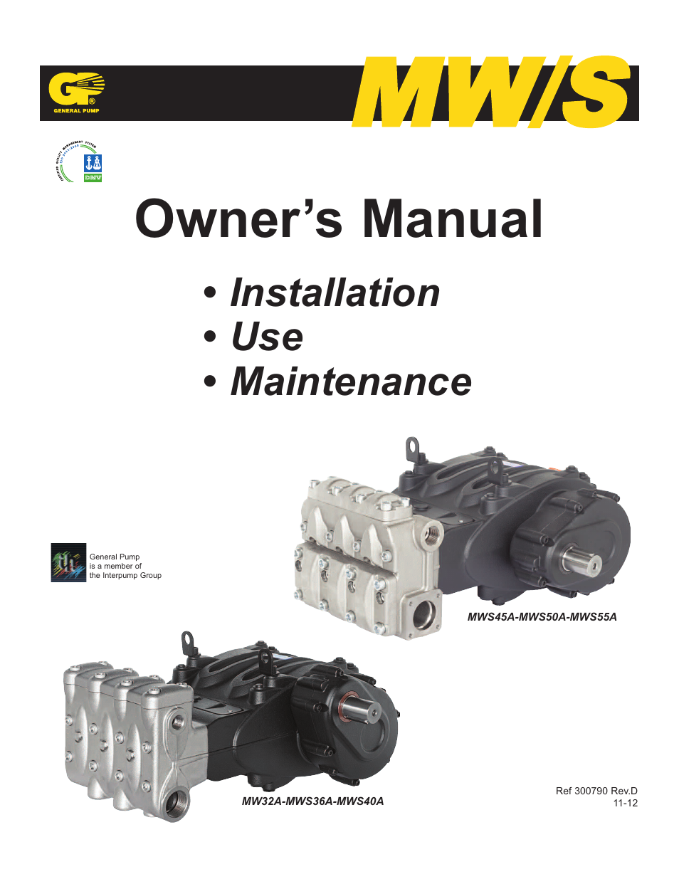 general pump mw owners manual user manual 34 pages rh manualsdir com  Operating Tools