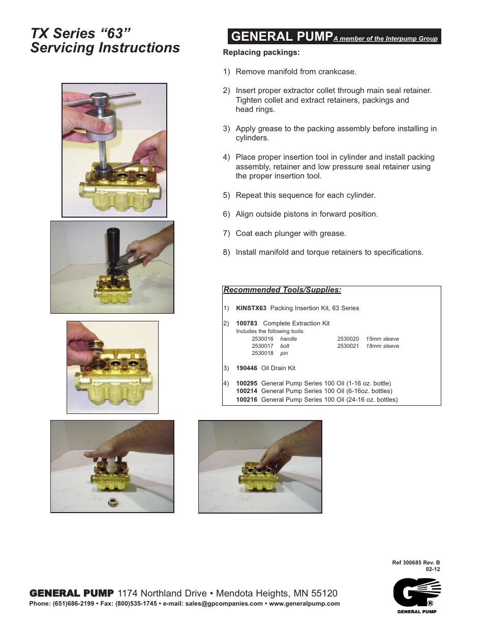 tx series u201c63 u201d servicing instructions general pump general pump rh manualsdir com Operation Game Pieces Operation Game Pieces
