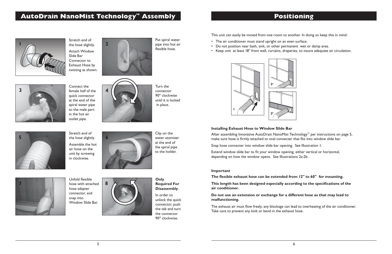 Positioning, Autodrain nanomist technology, Assembly | Amcor