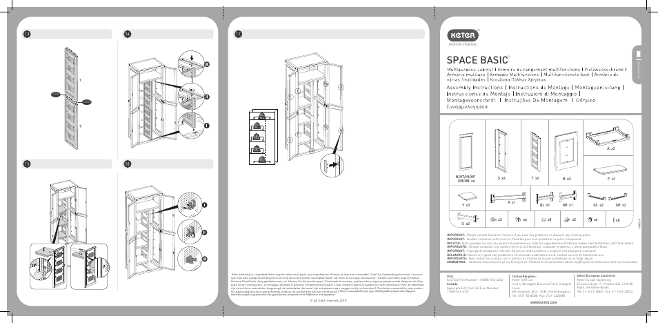 Keter Multi Purpose Storage Cabinet User Manual | 6 pages ...