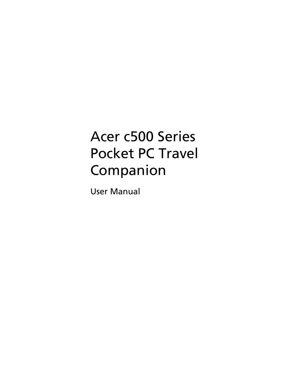 acer c500 user manual 54 pages rh manualsdir com Acer Service Manual Acer Service Manual