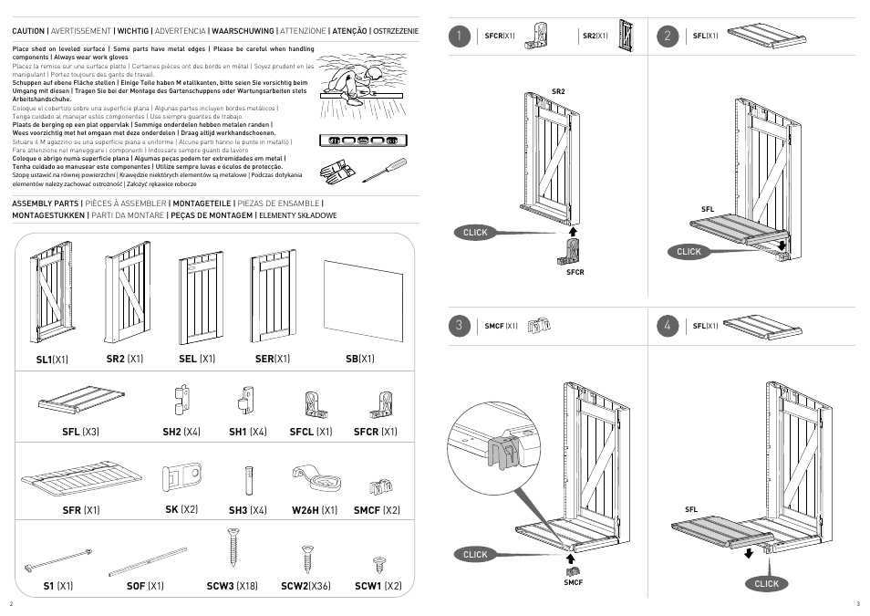 Keter Store It Out Flip Lid Assembly Instructions