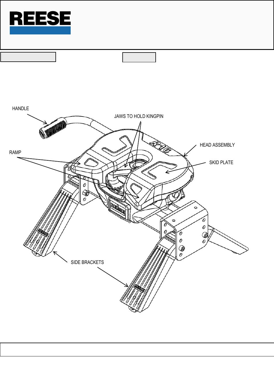 reese 16k 5th wheel hitch manual