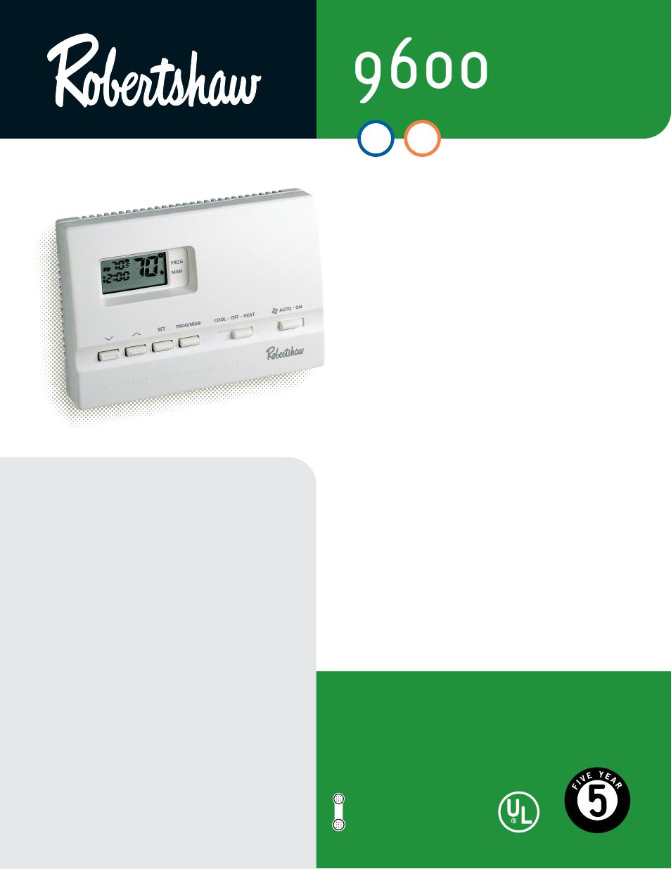 Robertshaw 9600 User Manual