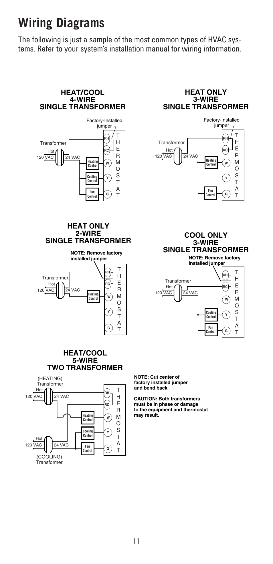 Wiring diagrams | Robertshaw 9600 User Manual | Page 11 / 12Manuals Directory