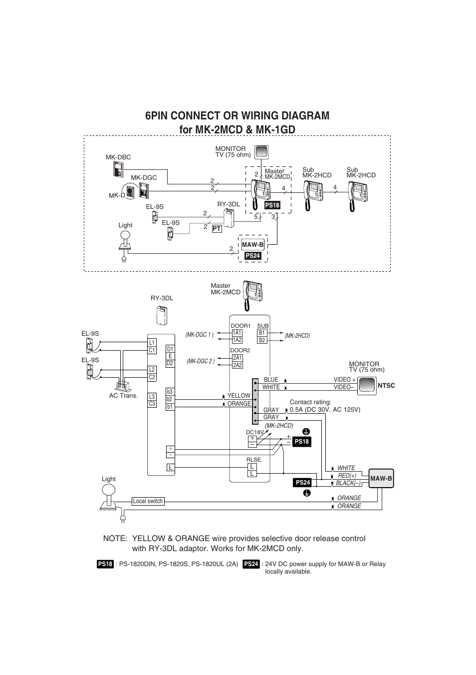 Aiphone Mk 2hcd User Manual Page 2 Also For 1gd Wiring Diagram