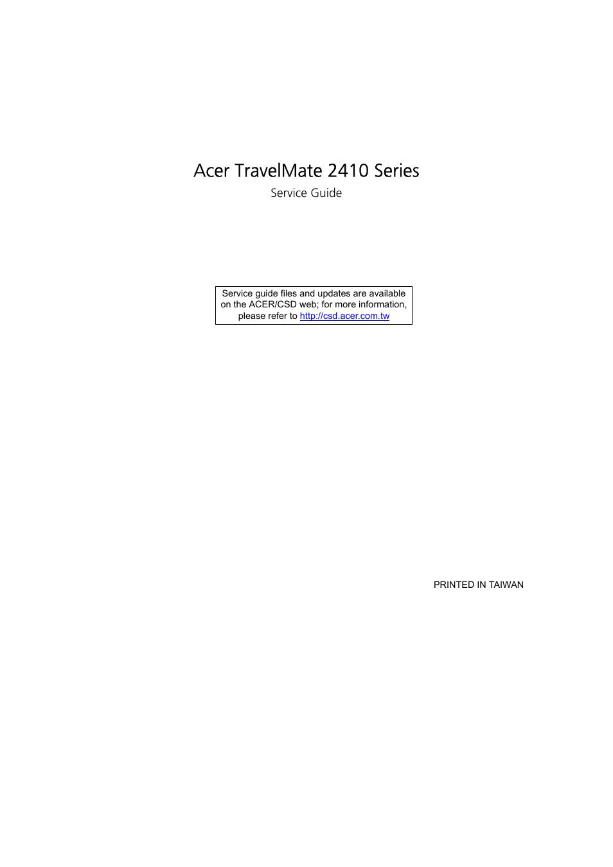 acer 2410 user manual 92 pages rh manualsdir com Acer TravelMate Review Acer TravelMate P6