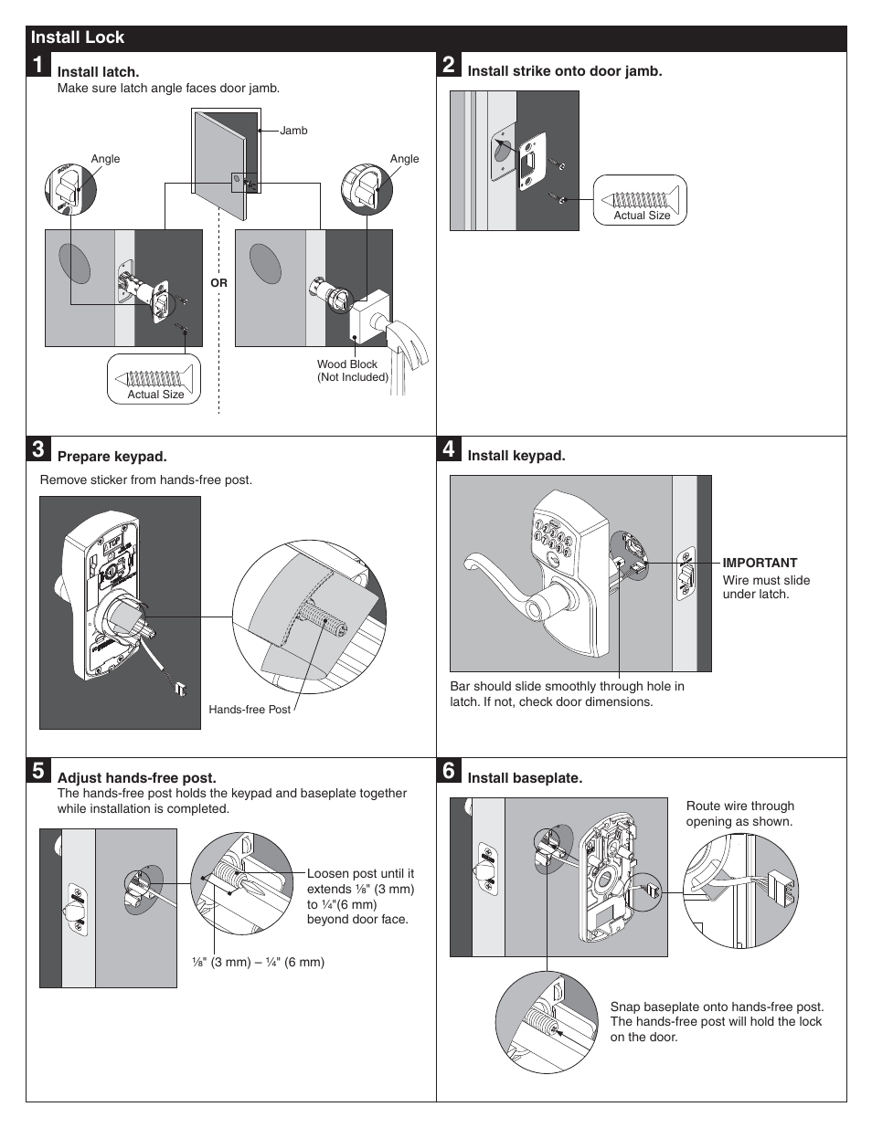 Schlage Fe595 Installation User Manual Page 2 8