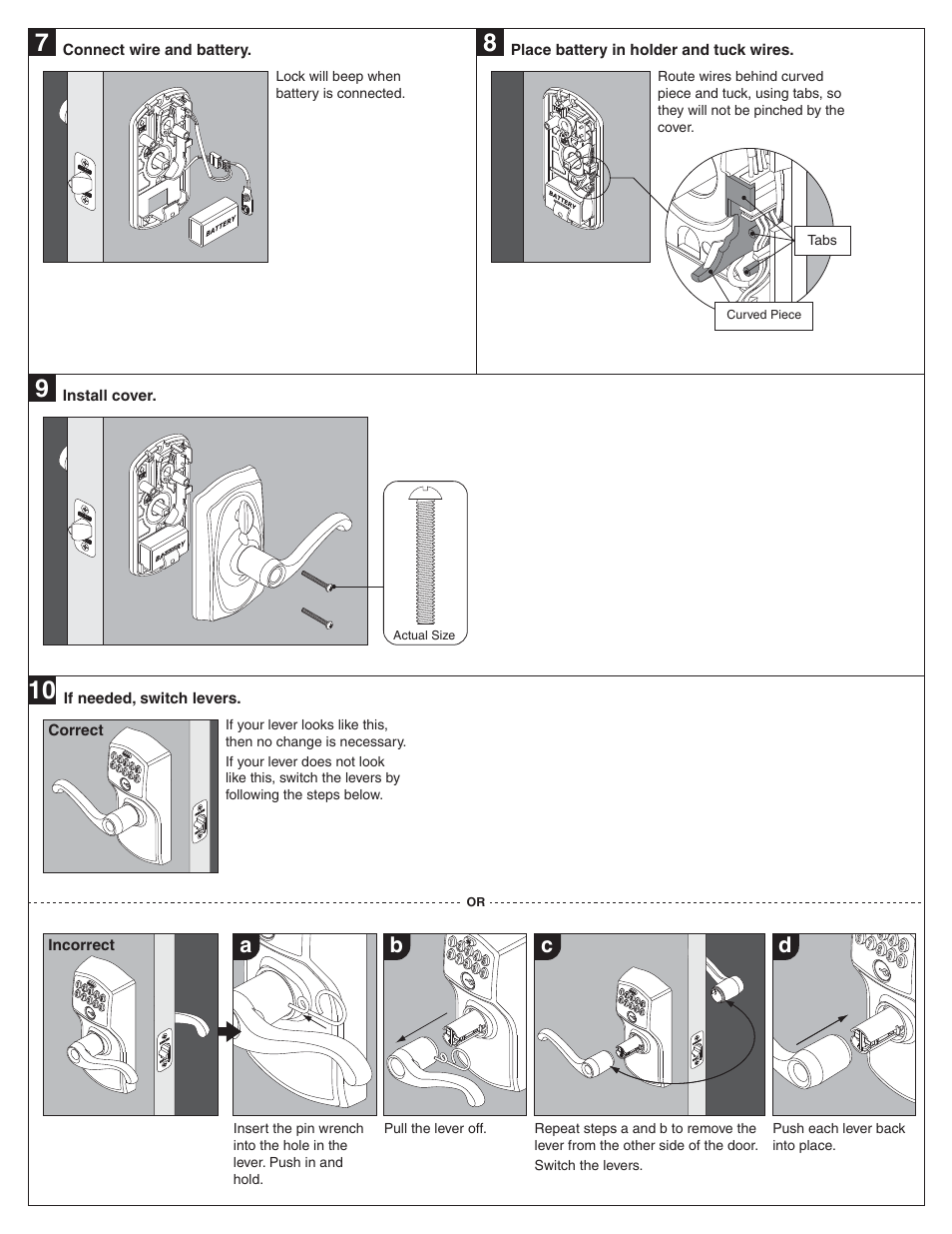 Ab C D Schlage Fe595 Installation User Manual Page 3 8