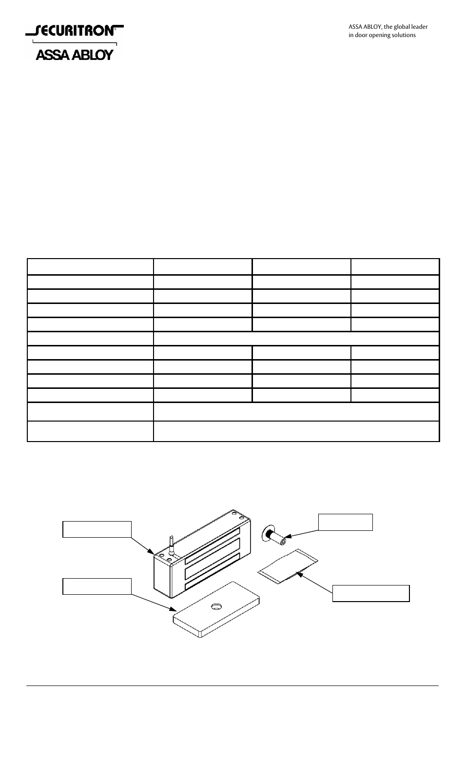Securitron M82B User Manual | 16 pages | Also for: M62, M32 on m32 maglock, 600-pound maglock, double maglock, for sliding door maglock, wiring a maglock, side mount maglock,