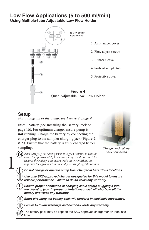 Low Flow Applications 5 To 500 Ml Min Setup Skc 224 44xr Circuit Diagram Battery Orientation Universal Pump User Manual Page 14 25