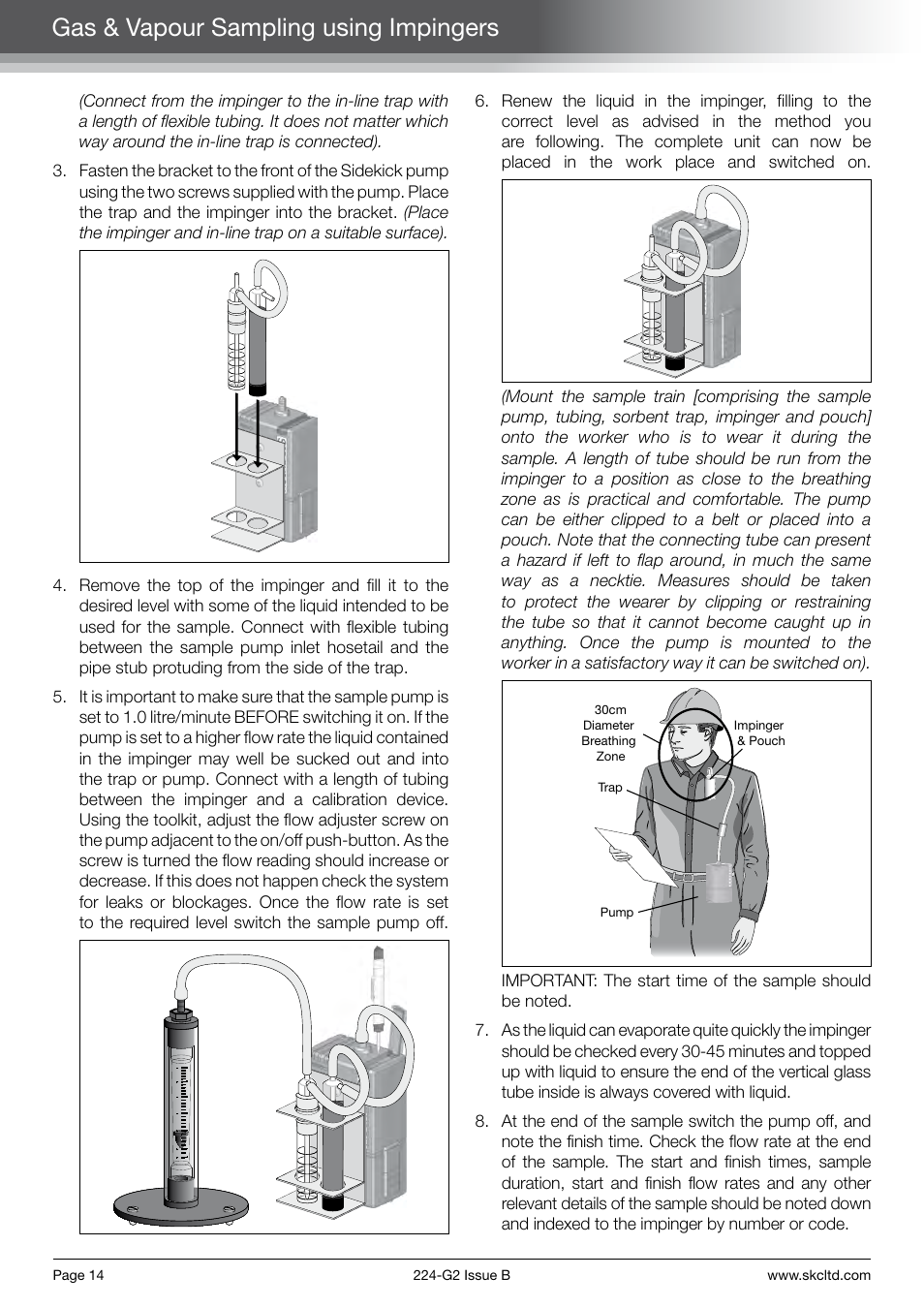 gas vapour sampling using impingers skc limited sidekick pump rh manualsdir com Pink Sidekick Sidekick Slide