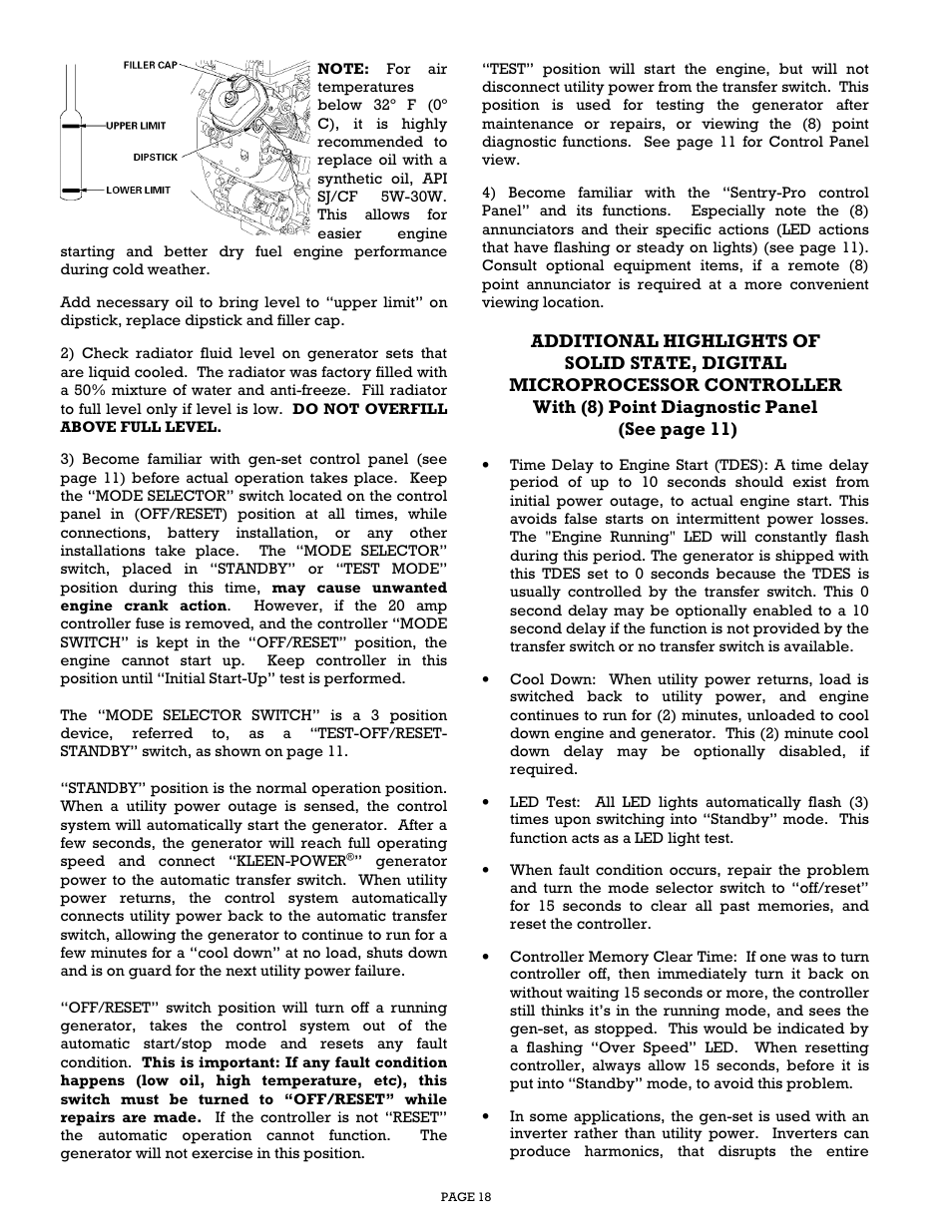 Gillette Generators SPP-180 User Manual | Page 18 / 32
