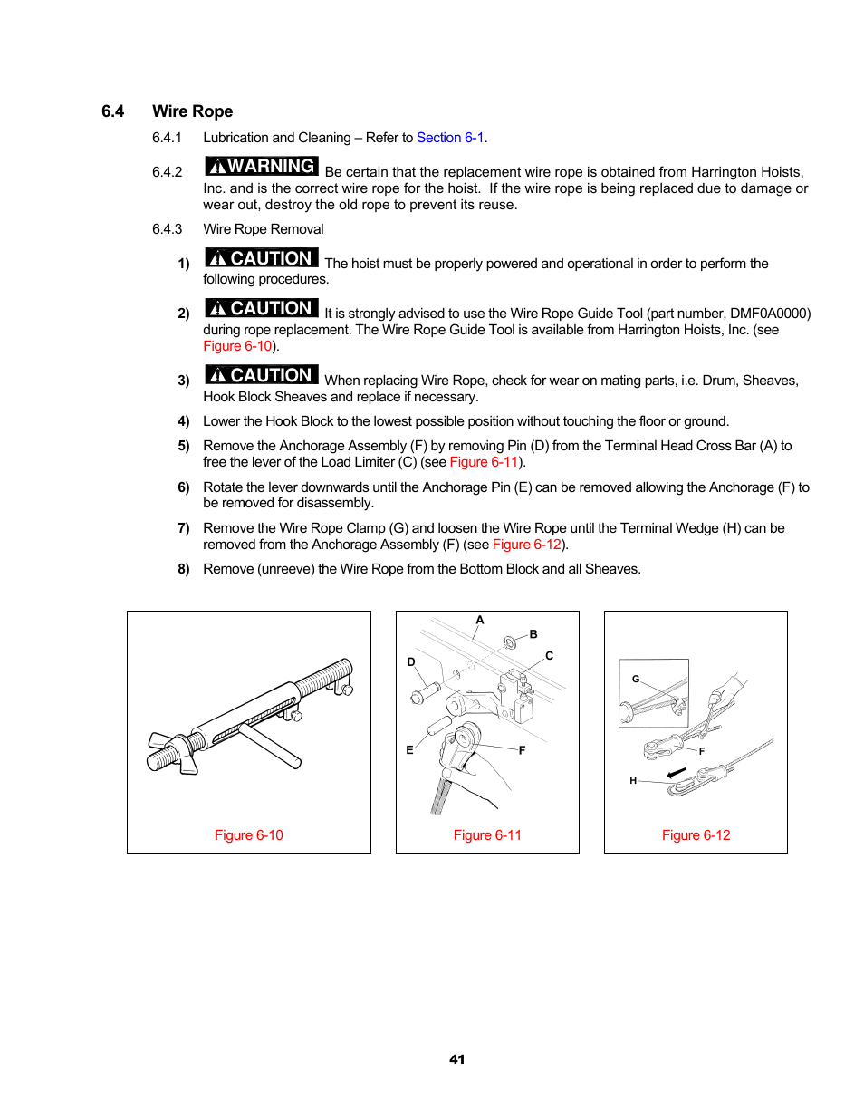 Warning, Caution | Harrington Hoists and Cranes RH - Advantage Wire ...
