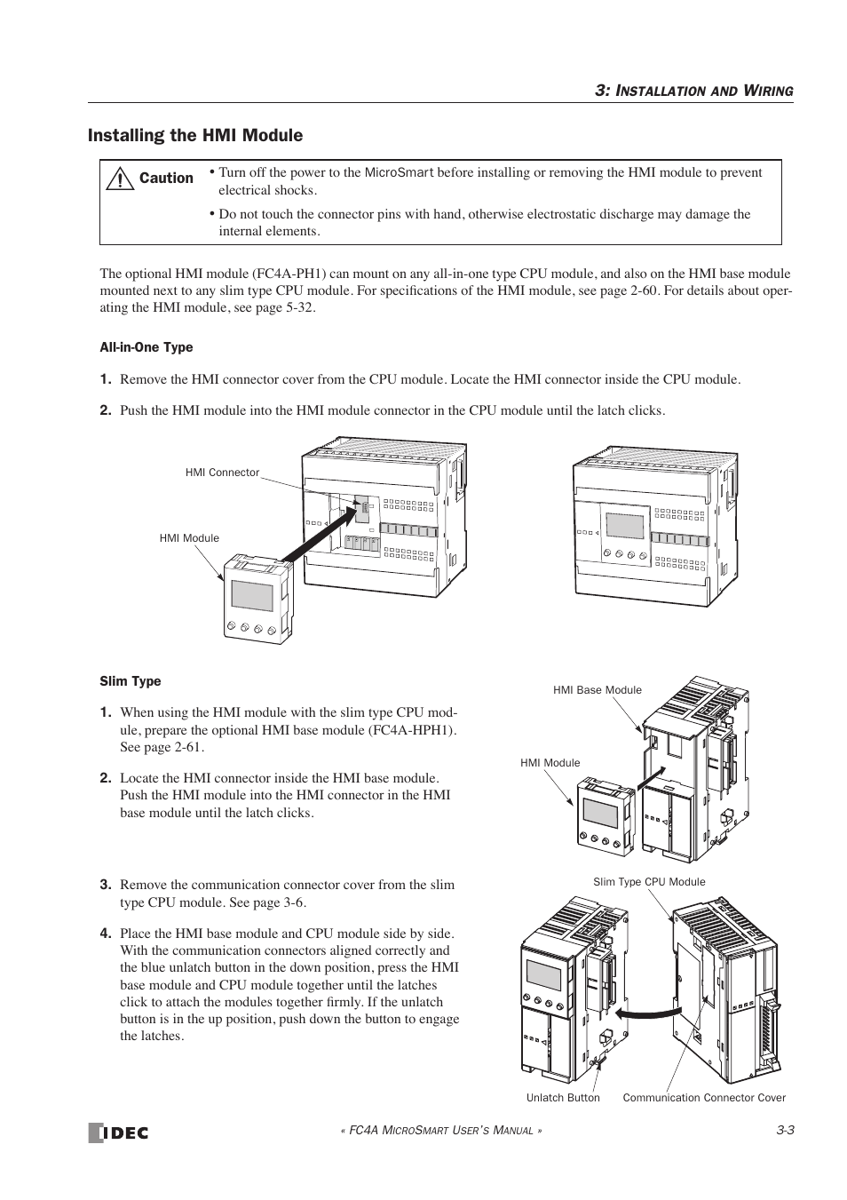 Installing The Hmi Module Idec Microsmart User Manual Page 97 525 Wiring Diagram